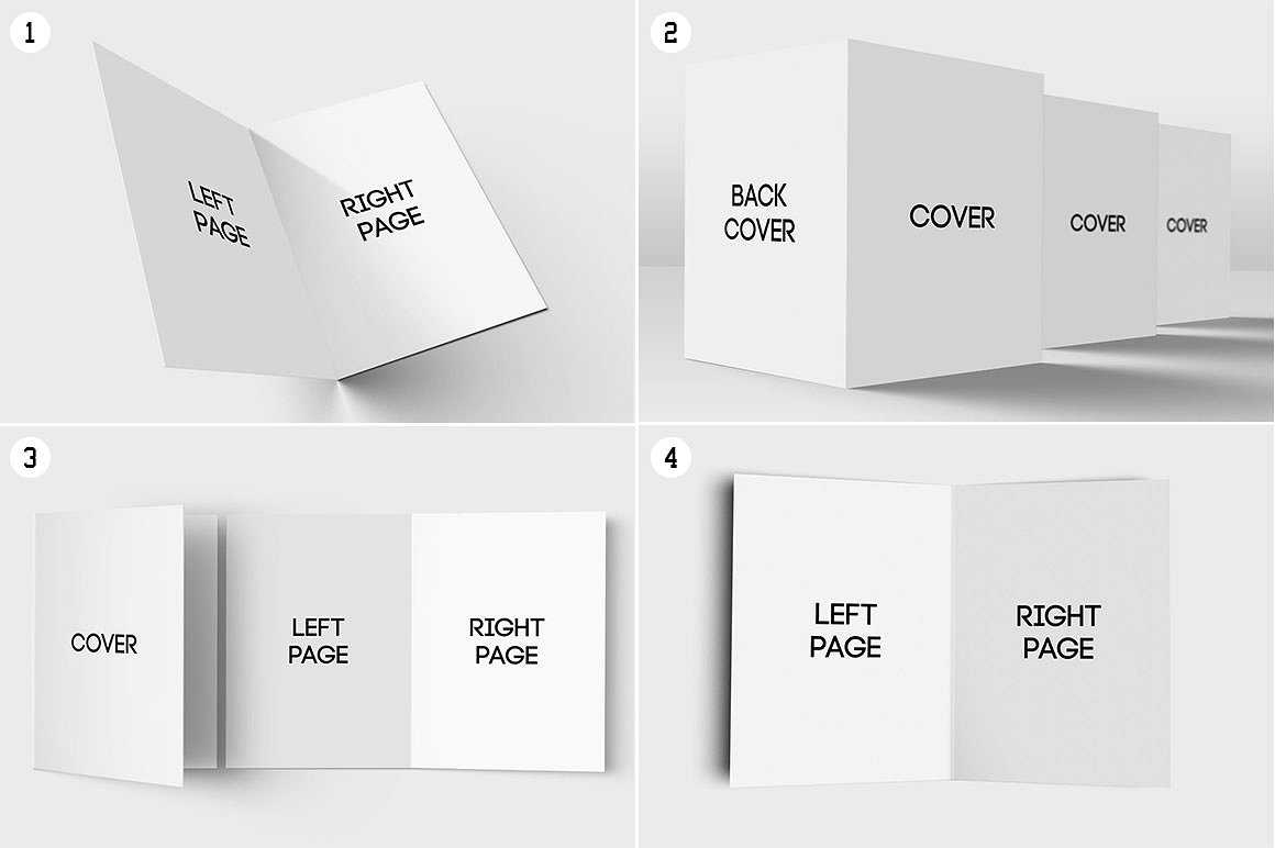 quarter fold greeting card template  great professional