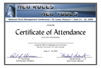 19 Images Of Meeting Attendance Certificate Template in Conference Certificate Of Attendance Template