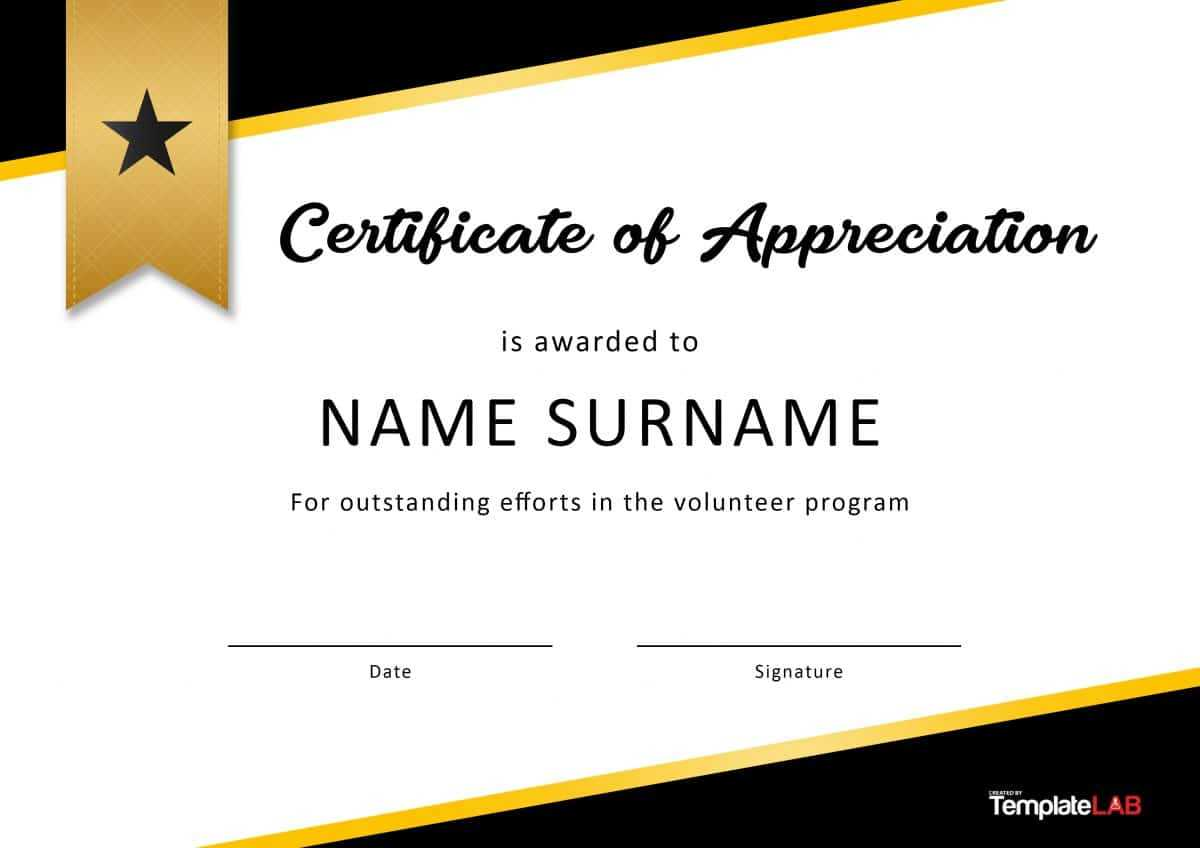 30 Free Certificate Of Appreciation Templates And Letters Pertaining To Free Student Certificate Templates