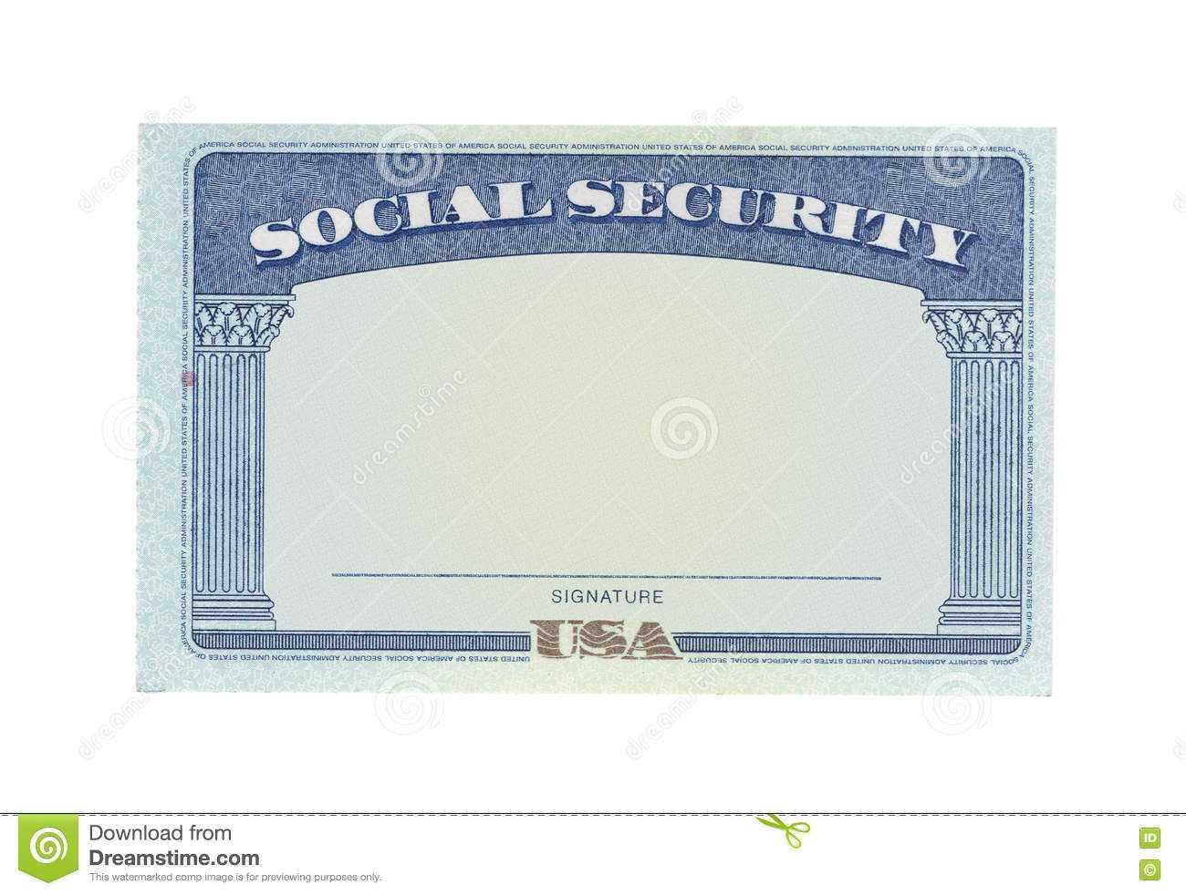 Blank Social Security Card Stock Photos - Download 127 With Regard To Blank Social Security Card Template Download