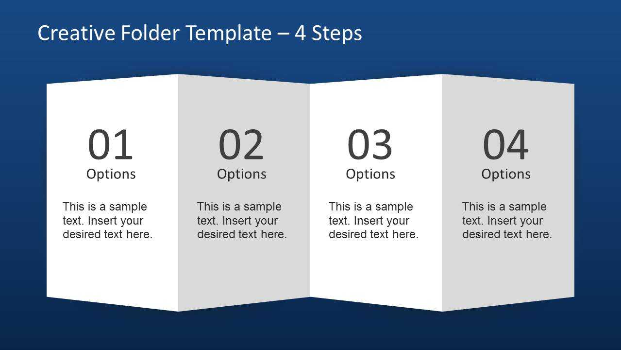 Creative Folder Paper With 4 Fold Brochure - Slidemodel For In 4 Fold Brochure Template