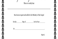 Fillable Online Printable Certificate Of Ordination With regarding Free Ordination Certificate Template