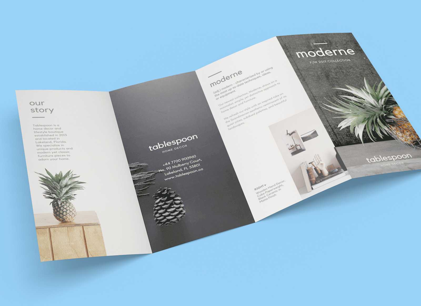Free 4 Panel Quad Fold Brochure Mockup Psd - Good Mockups Within 4 Fold Brochure Template